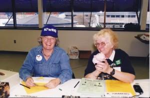 Betsy N7WRQ & Charlene KC7RQF, Puyallup Hamfest, 1999