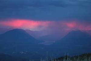 Thunderstorm over Lake Wenatchee