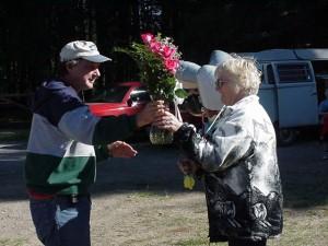 John W7OE &  Charlene KC7RQFf, KBARA 2000 Campout at Farragut State Park ID